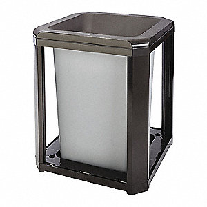 Trash Can,20 gal.,Brown,Polycarbonate