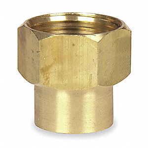 "Brass Hose To Pipe Adapter, 3/4"" FGHT x 1/2"" FNPT Connection"