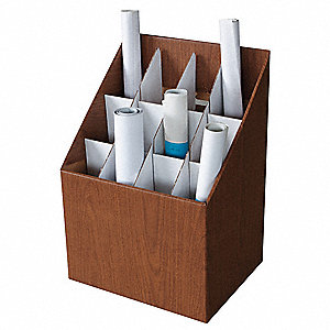 Roll File,12 Compartments,Fiberboard