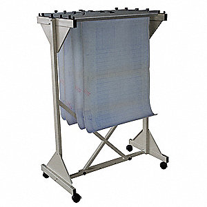 Mobile Drop Lift Rack,52 In H,Putty