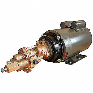 Rotary Gear Pump, Bronze, 3 HP, 1 Ph