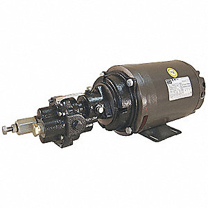 Rotary Gear Pump, 125 psi, Cast Iron, 3 HP, 3 Phase