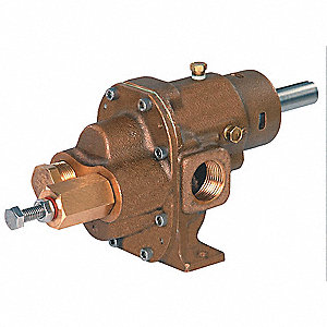 "3/4"" Heavy-Duty Bronze Rotary Gear Pump Head, Pedestal Design, 125 psi"