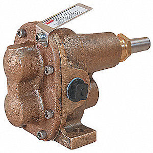 "1"" Light-Duty Bronze Rotary Gear Pump Head, Pedestal Design, 100 psi"