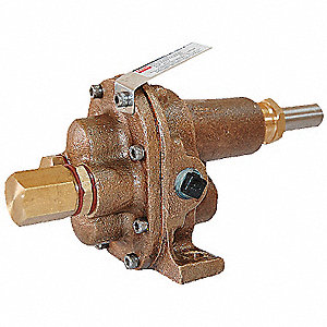 "1/4"" Light-Duty Bronze Rotary Gear Pump Head, Pedestal Design, 100 psi"