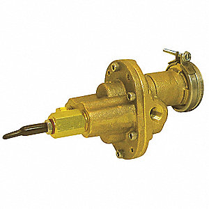 "1/4"" Intermediate-Duty Bronze Rotary Gear Pump Head, Close Coupled Design, 100 psi"