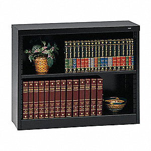 Bookcase,Steel,30 In H,Black