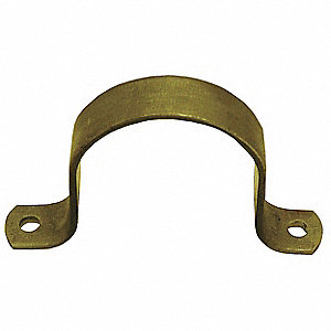 HD PIPE STRAP,STEEL,2 IN,5 13/16 IN