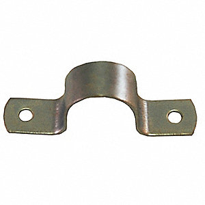 HD Pipe Strap, Zinc Plated, 2In, 5 13/16InL