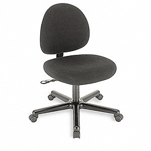 "Black Nylon Desk Chair 15"" Back Height, Arm Style: Adjustable"