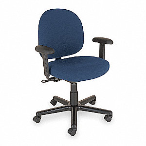 "Black Vinyl Desk Chair, 42"" Overall Height"