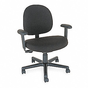 "Black Nylon 24/7 Chair, 42"" Overall Height"