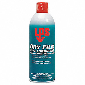 Dry Film PTFE Lubricant, 16 oz. Container Size, 11 oz. Net Weight