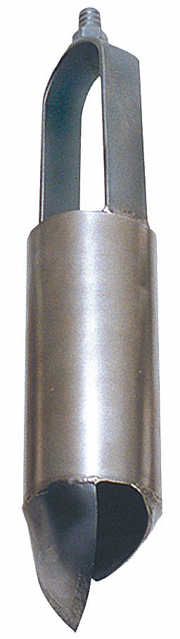Auger,  6 in Dia. (In.),  Carbon Steel Bail, Carbon Steel Cylinder,  3/4 in Thread