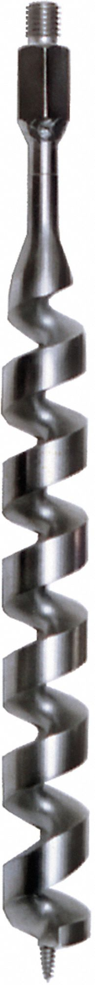 Auger,  1 1/2 in Dia. (In.),  Carbon Steel,  5/8 in Thread
