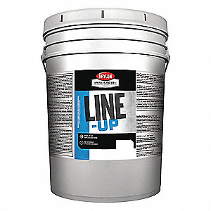 Water-Base Inverted Striping Paint, Extreme Hide White, 5 gal.