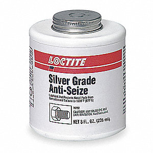 Anti Seize Compound, 8 oz. Container Size, 4 oz. Net Weight