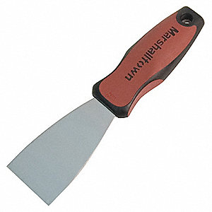 "9"" Putty Knife with 2"" Carbon Steel Blade, Black/Red"