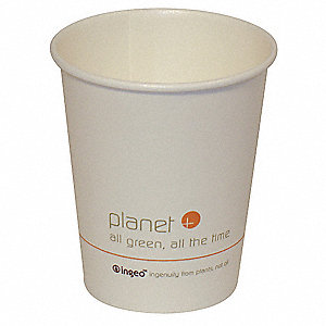 8 oz. Paper Disposable Hot Cup, White, 500 PK