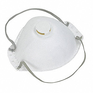 N95 Disposable Particulate Respirator, White, Universal, 12PK