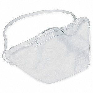 N95 Flat Fold Disposable Particulate Respirator, White, Universal, 20PK