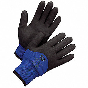 Cut Resistant Gloves,XL,Black/Blue,PR