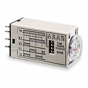 Multi-Function Timing Relay, 120VAC, 3A @ 250V, 14 Pins, 4PDT
