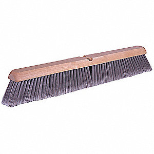 "Polystyrene Push Broom, Block Size 24"", Hardwood Block Material"