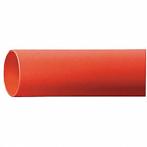 Heat Shrink Tubing, Red, Shrink Ratio: 3:1, 4 ft. Length