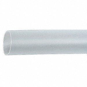 Shrink Tubing,0.375in ID,Clear,6in,PK10