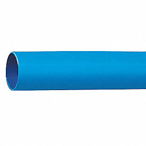 Shrink Tubing,1.0in ID,Blue,4ft,PK5