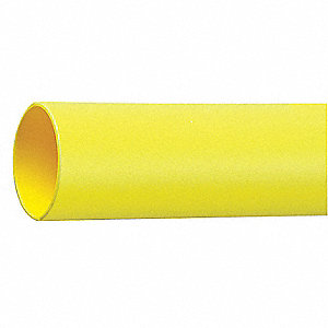 Shrink Tubing,0.25in ID,Yellow,4ft,PK12