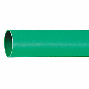 Shrink Tubing,0.75in ID,Green,4ft,PK12
