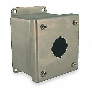 Pushbutton Enclosure, 4, 4X, 12, 13 NEMA Rating, Number of Columns: 1