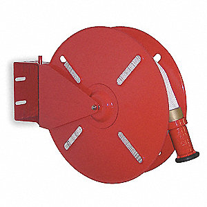 Steel Heavy Duty Fire Hose Reel, 50 ft. Hose Capacity, For Hose Dia. 1-1/2""