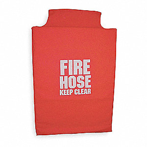 Fire Hose Cover,32 In.L,22 In.W,Red
