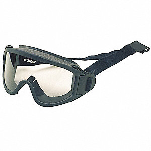 Anti-Fog, Scratch-Resistant Firefighter OTG Goggles, Clear Lens Color