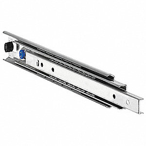 Side or Hard Drawer Slide, Non Disconnect, Conventional, Extension Type: Over Travel, 2 PK