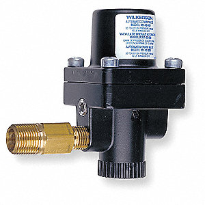 "2-1/8"" x 2-15/16"" x 3-13/16"" Aluminium Automatic Drain Valve with 1/4"" NPT Pipe Size"