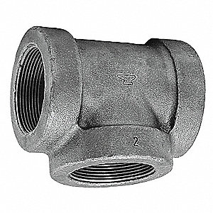 "Reducing Tee, FNPT, 3"" x 2-1/2"" x 1"" Pipe Size - Pipe Fitting"