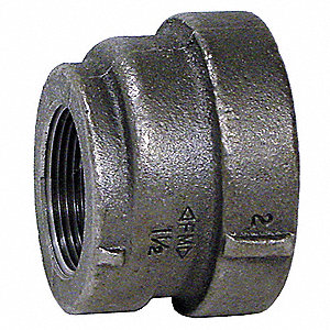 "Eccentric Reducer Coupling, FNPT, 3/4"" x 1/2"" Pipe Size - Pipe Fitting"