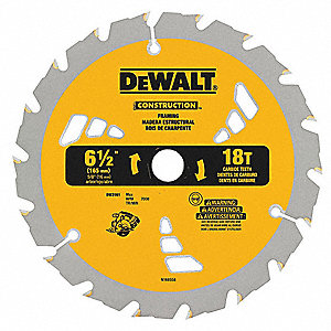 "6-1/2"" Carbide Ripping Circular Saw Blade, Number of Teeth: 18"