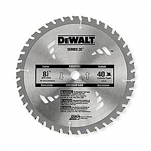 "8-1/4"" Carbide Ripping Circular Saw Blade, Number of Teeth: 40"