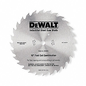 "7-1/4"" Steel Finishing Circular Saw Blade, Number of Teeth: 68"