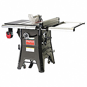 "10"" Contractor Table Saw, Blade Tilt: Left, 5/8"" Arbor Size, 3450 No Load RPM"