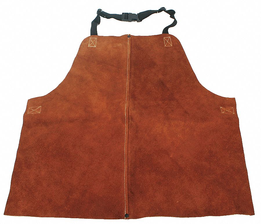 LeatherWelding Waist Apron, Length 18 in, Adjustable Nylon Straps w/Quick Release Buckles Closure Ty