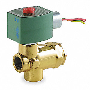 SOLENOID VALVE,1/2 IN,ORIFICE 3/8 I