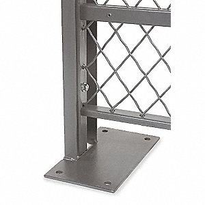 Wire Partition Line Post,4-1/2x1 Inx10ft