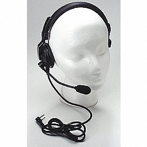 Over the Head   On Ear, One Ear, Black, Noise Canceling No
