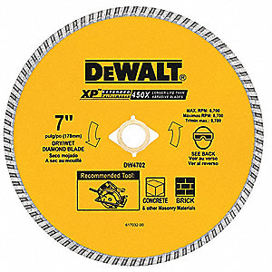Diamond Saw Blade,Masonry,7 in. Dia.